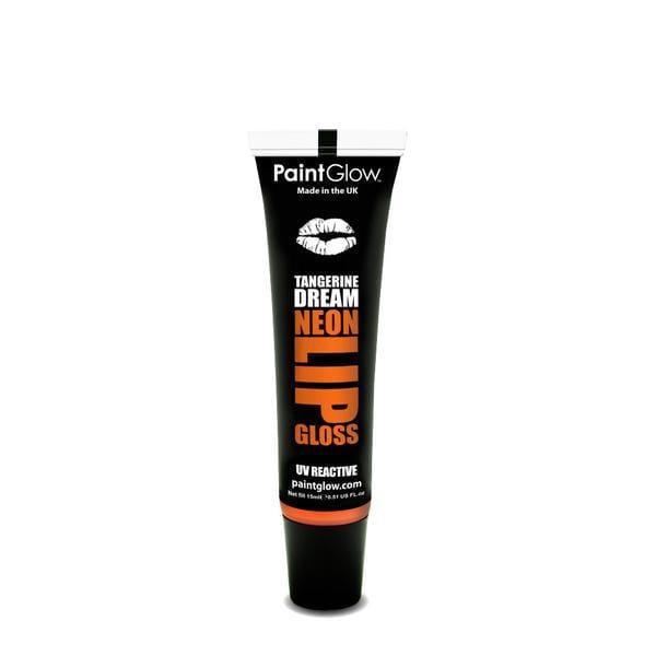 PaintGlow UV Reactive Neon Lip Gloss 15ml Tangerine Dream