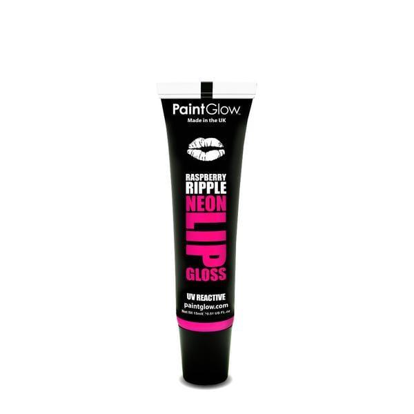PaintGlow UV Reactive Neon Lip Gloss 15ml Rapberry Ripple