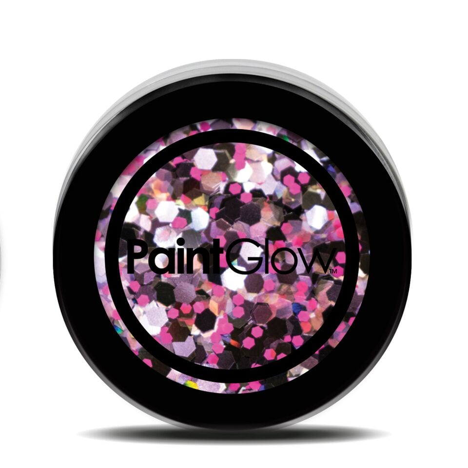 PaintGlow Chunky Holographic UV Cosmetic Glitter 5g Purple Haze