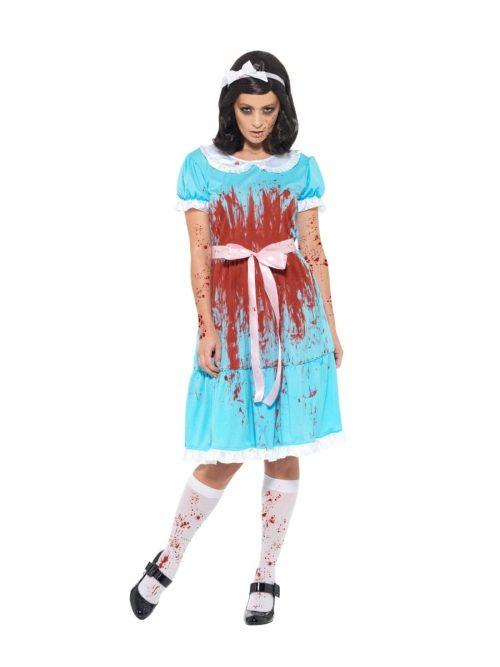 Bloody Murderous Twin Ladies Halloween Fancy Dress Costume