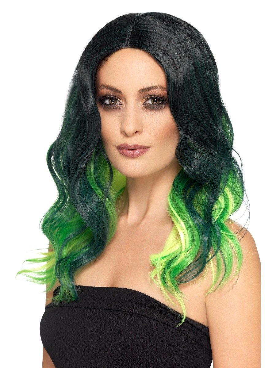 Deluxe Green Ombre Wig
