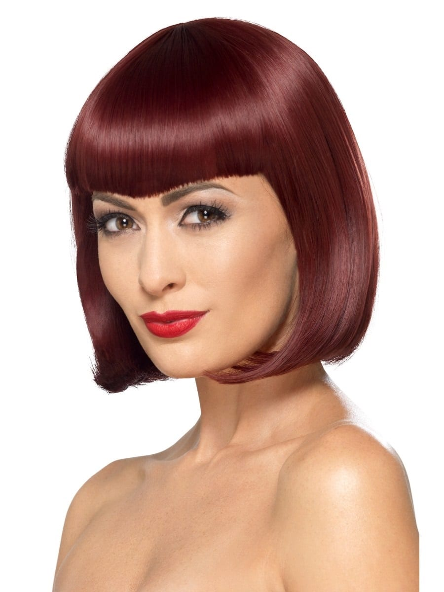 Deluxe Cherry Bob Wig With Shaped Fringe