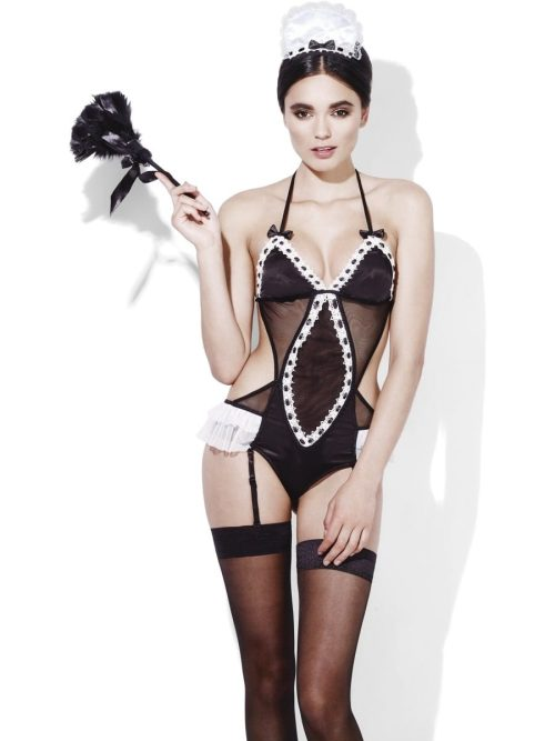 Fever Maid After Hours Ladies Lingerie Fancy Dress Costume