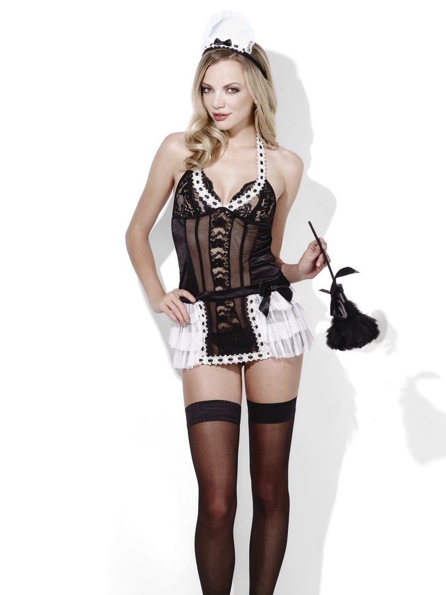 Fever Maid At Your Service Ladies Lingerie Fancy Dress Costume