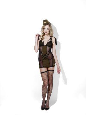Fever Army Major Ladies Lingerie Fancy Dress Costume