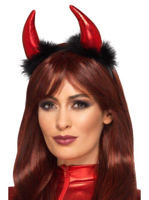 Metallic Devil Horn Headband