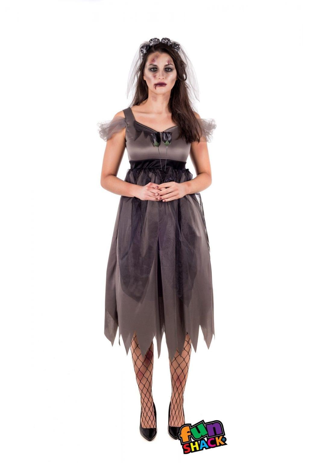 Deathly Bride Ladies Halloween Fancy Dress Costume