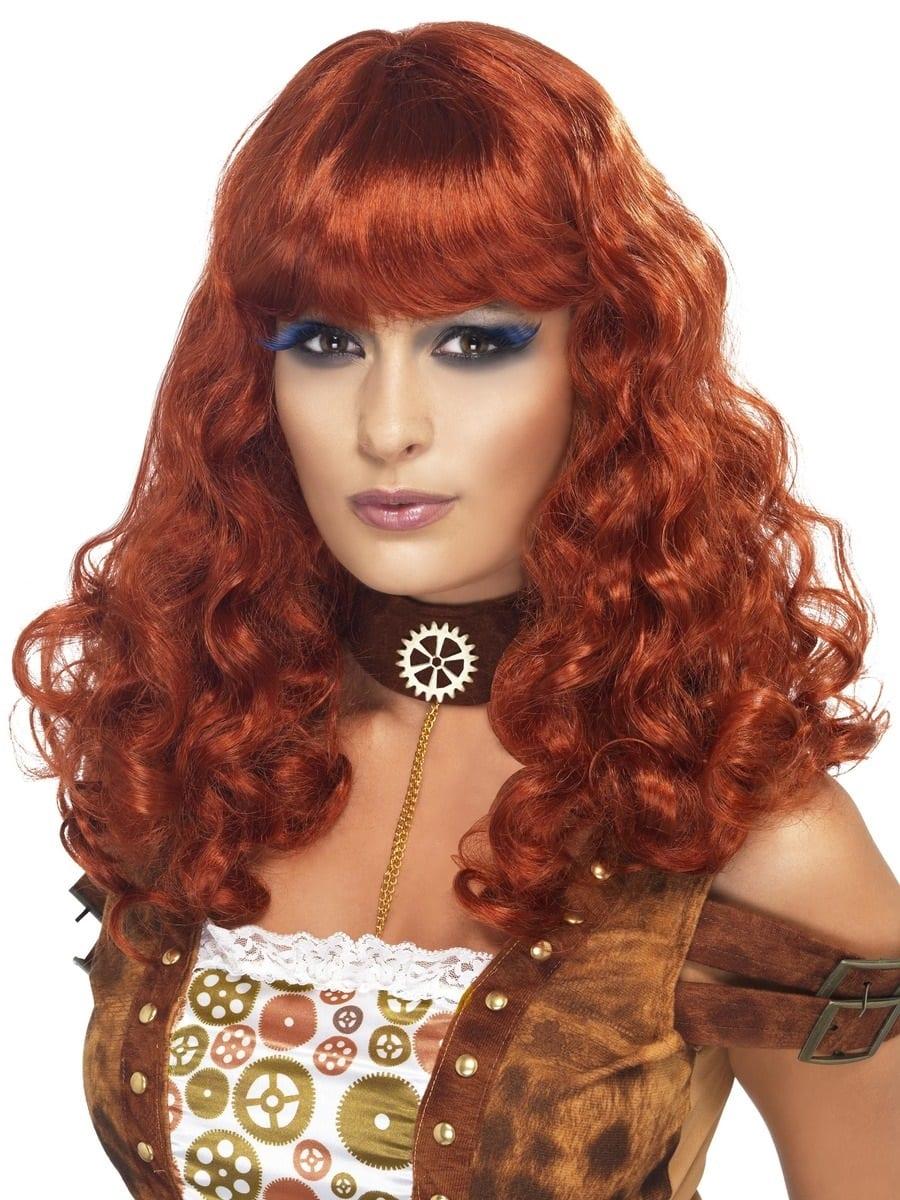 Steam Punk Auburn Wig