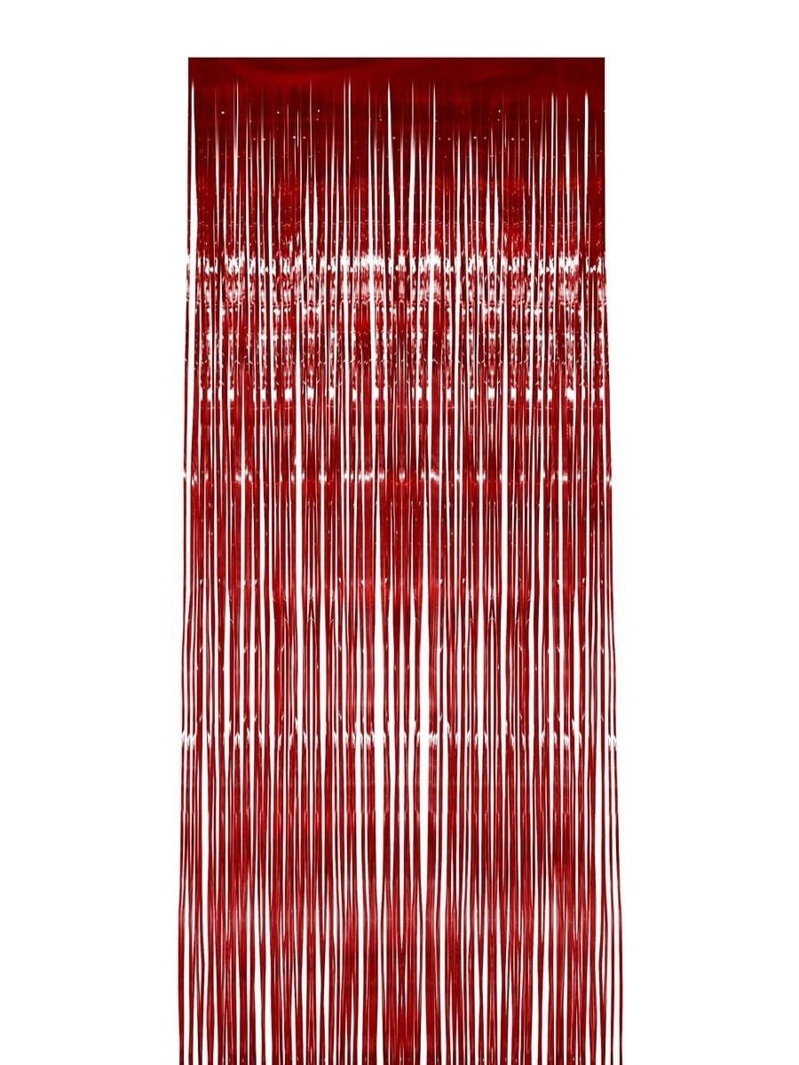 Shimmer Curtain, Red, Metallic, 91cm x 244cm