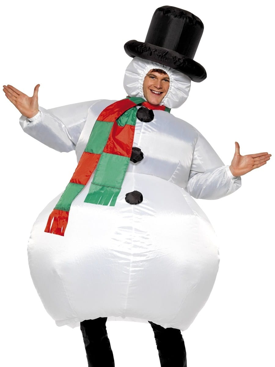 Inflatable Snowman Christmas Fancy Dress Costume