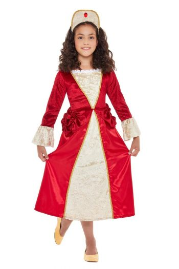 Tudor Princess Children's Fancy Dress Costume