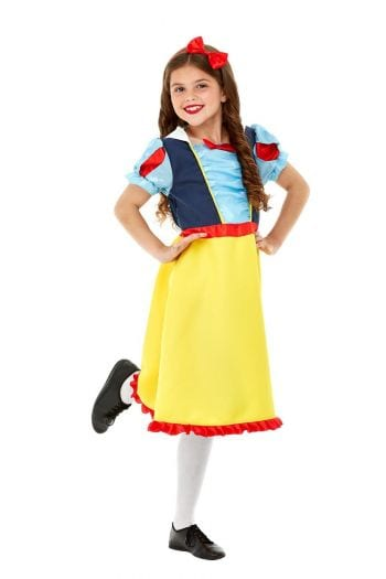 Princess Snow Deluxe Children's Fancy Dress Costume contains Blue & Yellow Dress & Headband
