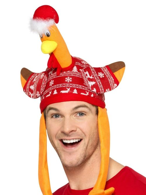 Turkey Hat, Red, with Christmas Jumper