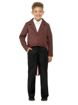 Brown Tailcoat Children's Unisex Fancy Dress Costume