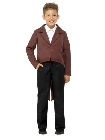 Brown Tailcoat Children's Unisex Fancy Dress Costume
