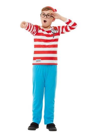 Where's Wally? Deluxe Boy's Children's Fancy Dress Costume