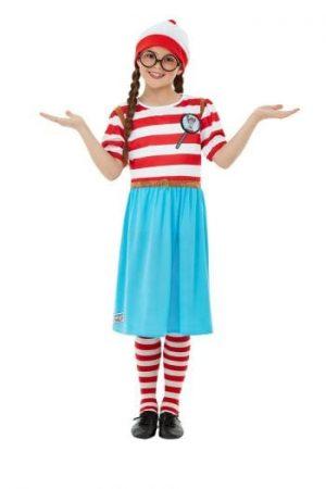 Where's Wally? Wenda Deluxe Girls Children's Fancy Dress Costume
