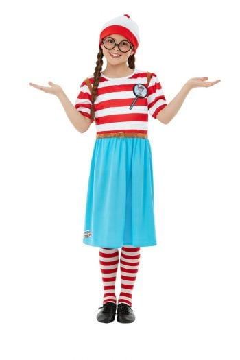 Where's Wally? Wenda Deluxe Girls Children's Fancy Dress Costume