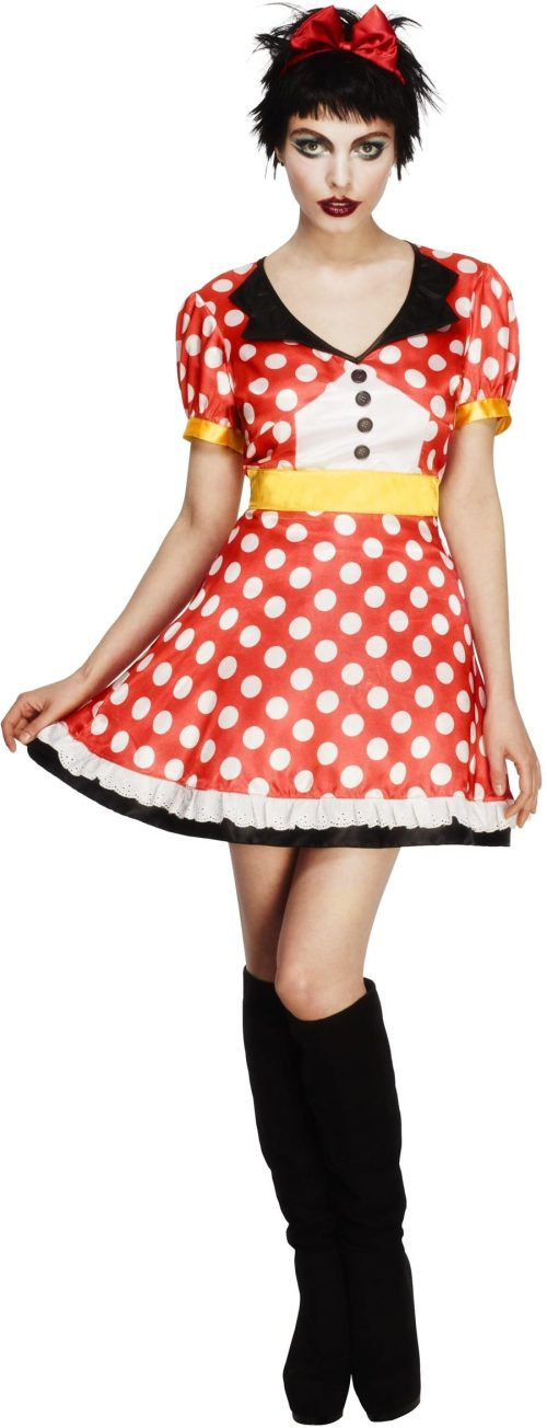 Fever Collection Miss Mouse Ladies Fancy Dress Costume