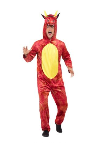 Deluxe Dragon Men's Fancy Dress Costume