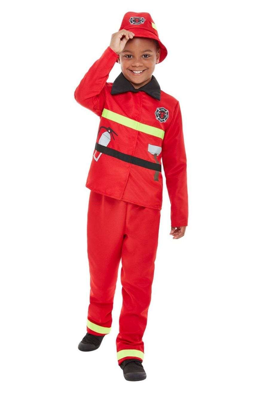 Fire Fighter Toddler Children's Fancy Dress Costume