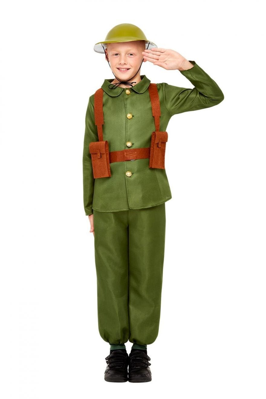 WW1 Soldier Children's Fancy Dress Costume