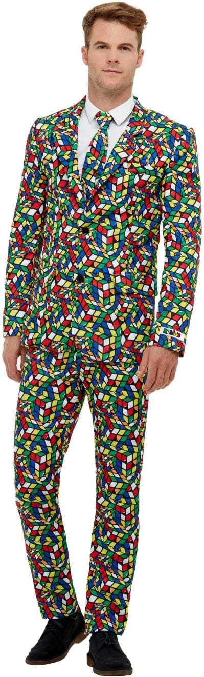 Rubik's Cube Men's Fancy Dress Costume