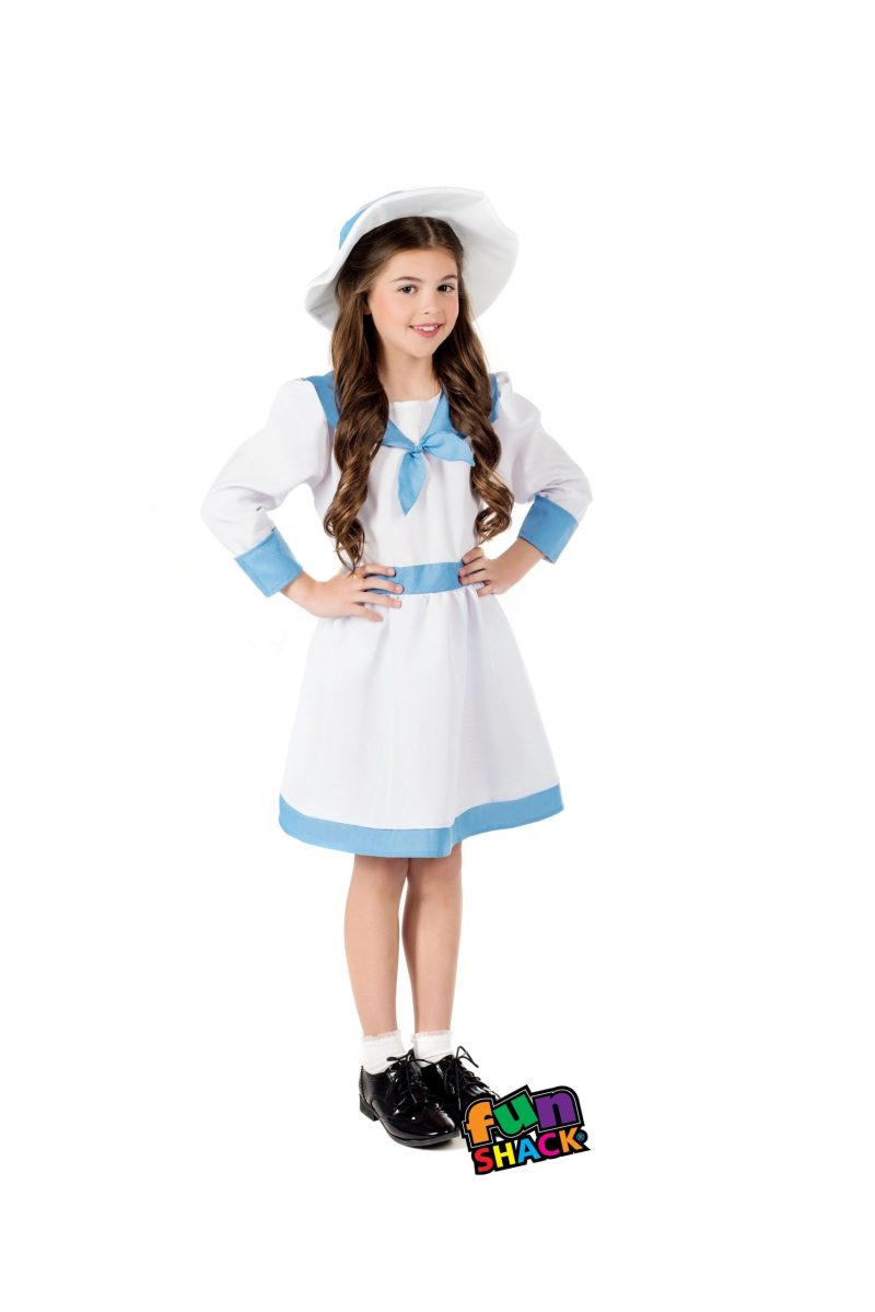 Edwardian Garden Girl Children's Fancy Dress Costume