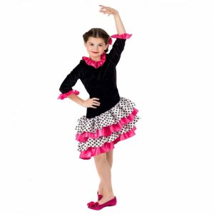 Little Flamenco Dancer Children's Fancy Dress Costume