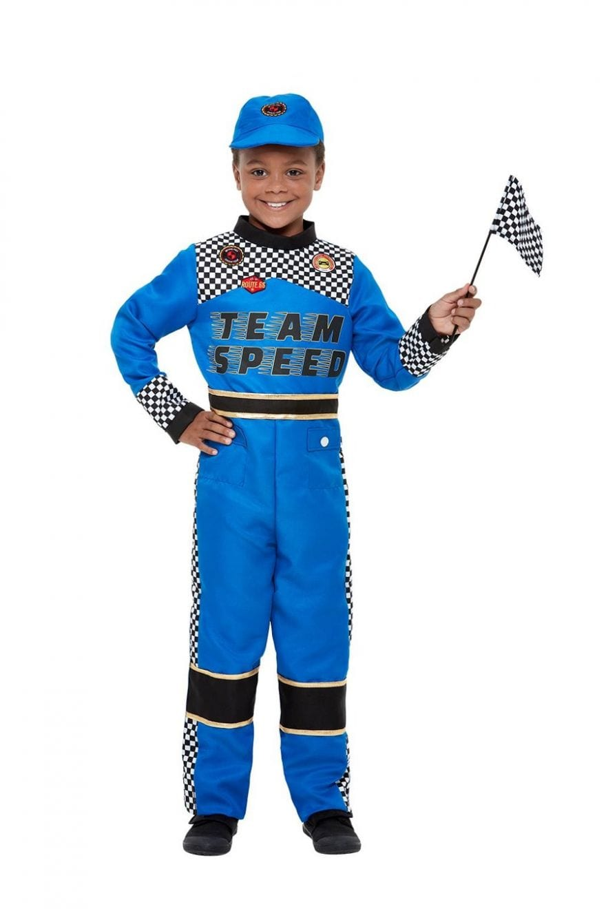Racing Car Driver Children's Fancy Dress Costume