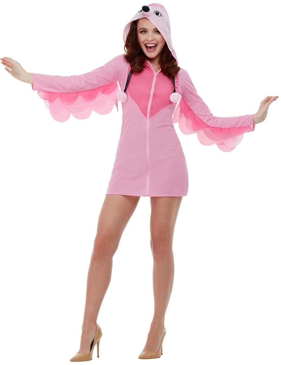 Flamingo Ladies Fancy Dress Costume