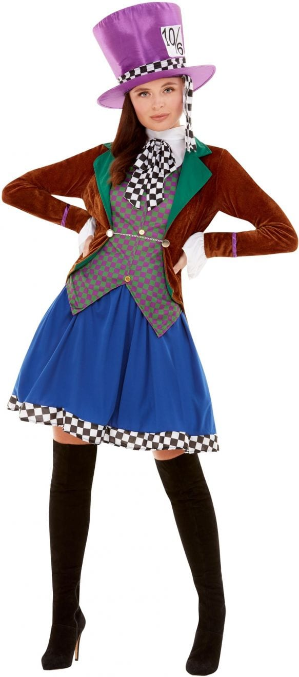 Miss Hatter Ladies Fancy Dress Costume