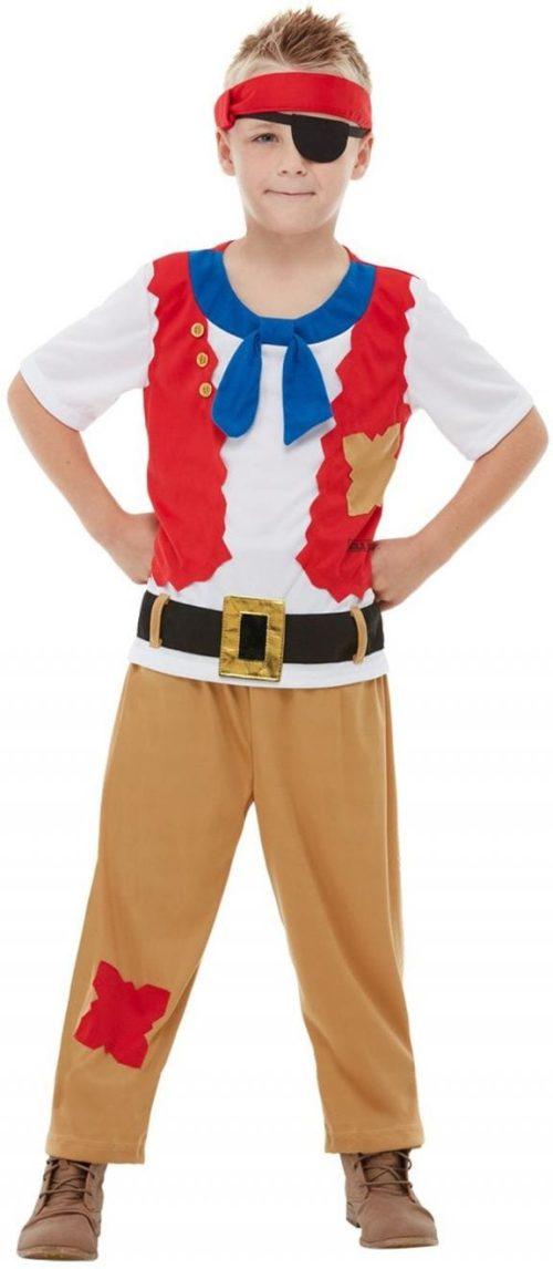 Horrible Histories Pirate Crew Children's Fancy Dress Costume
