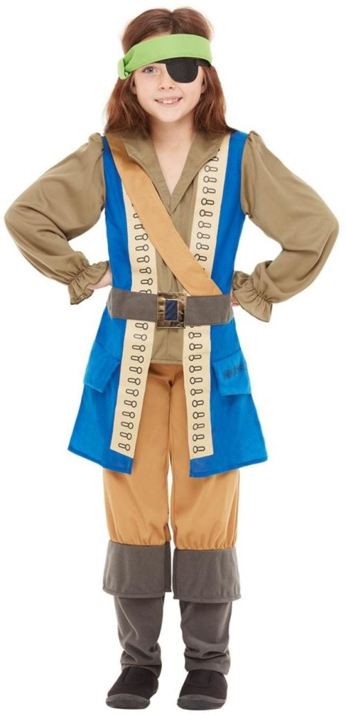 Horrible Histories Pirate Captain Children's Fancy Dress Costume