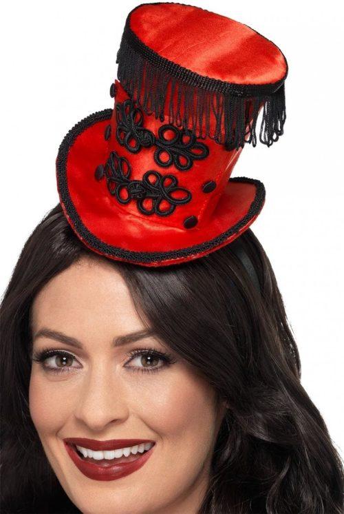 Ring Master Mini Hat, Red, on Headband