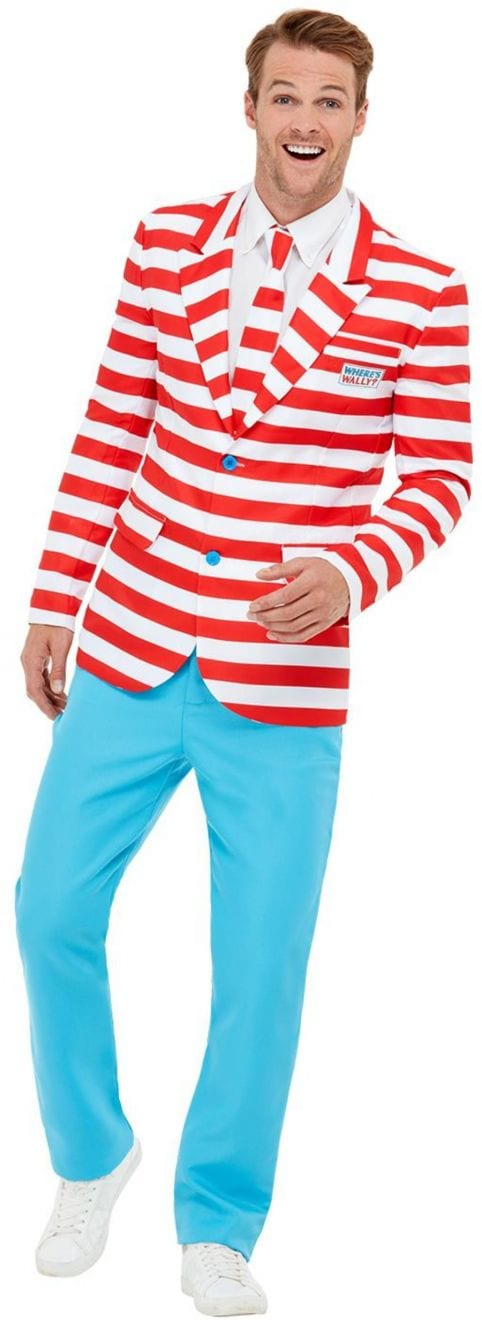 Where's Wally? Suit Men's Fancy Dress Costume