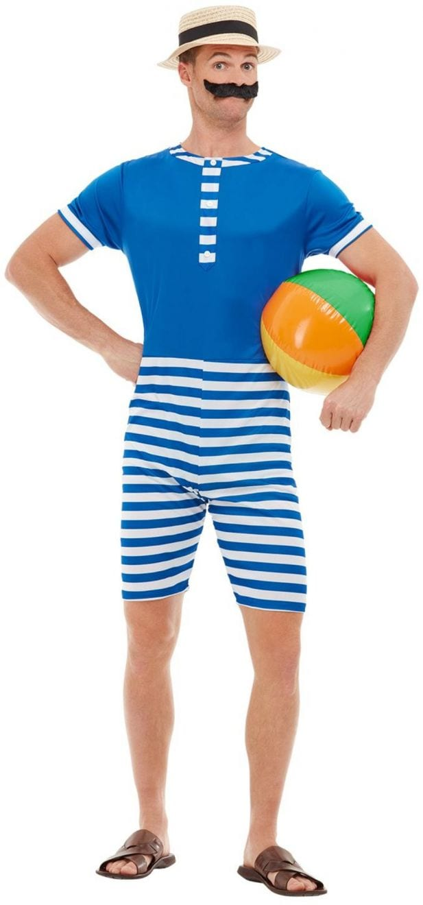 20s Bathing Suit Men's Fancy Dress Costume