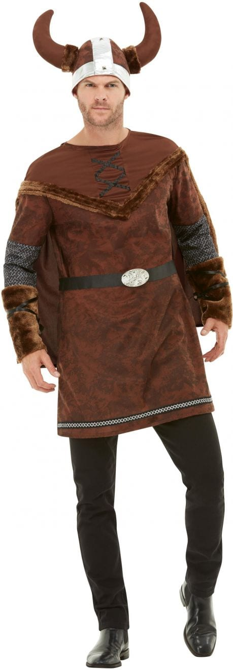 Viking Barbarian Men's Fancy Dress Costume