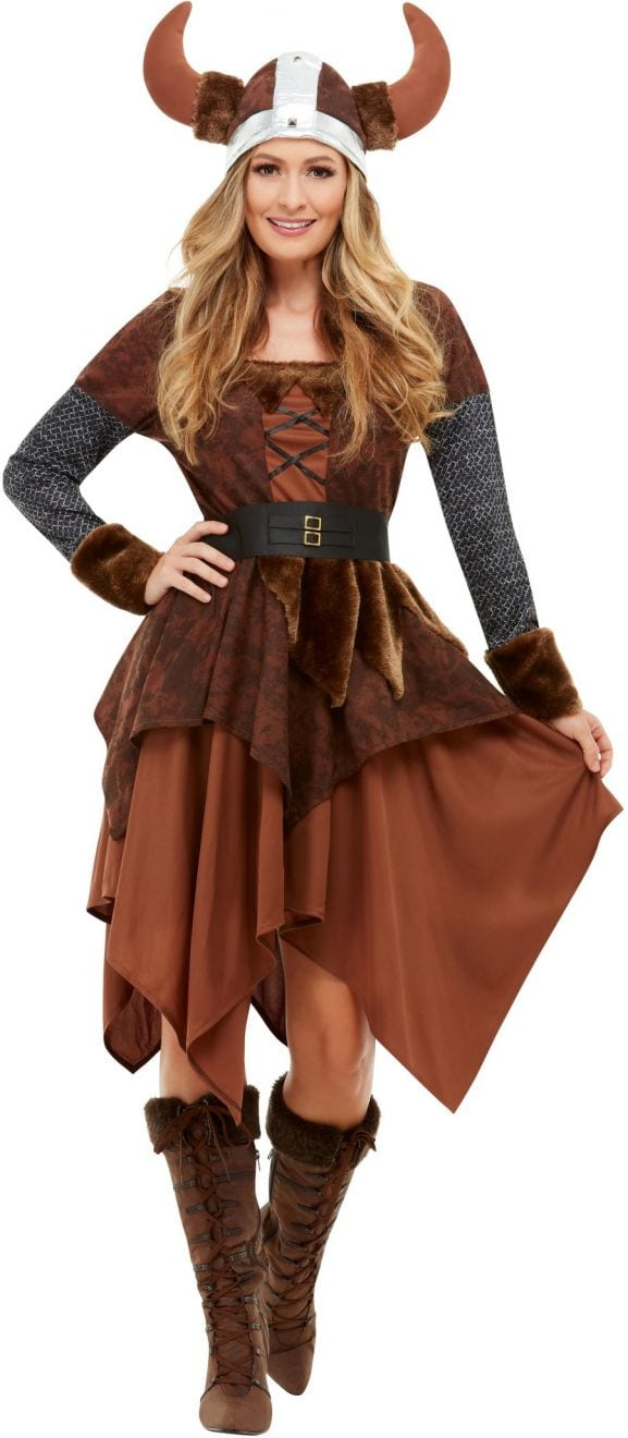 Viking Barbarian Queen Ladies Fancy Dress Costume