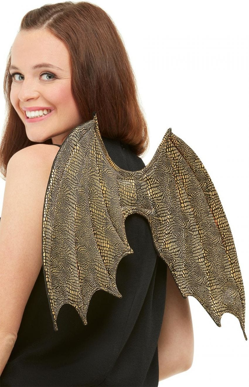 Dragon Scale Wings, Gold, 50cm/19in