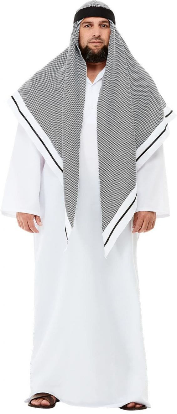 Deluxe Fake Sheikh (Arab) Men's Fancy Dress Costume