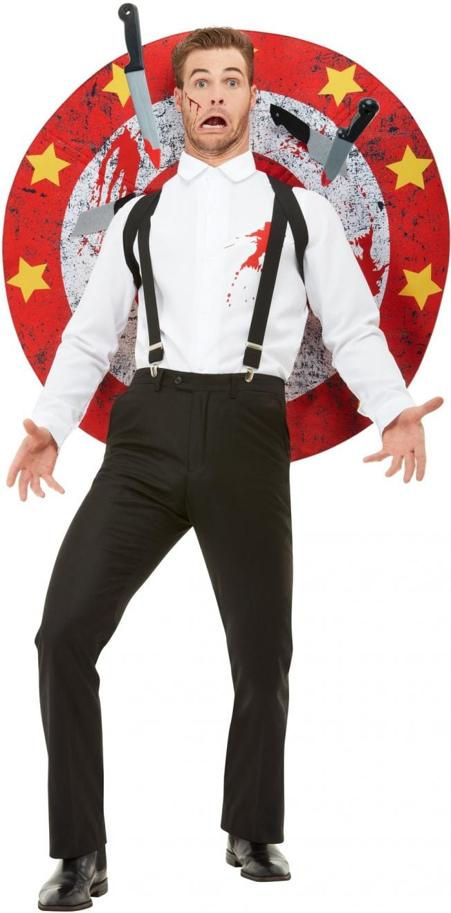 Deluxe Knife Thrower Men's Fancy Dress Costume