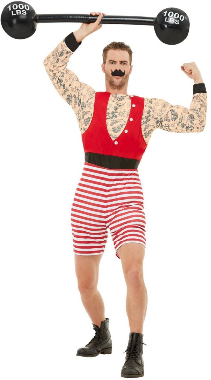Deluxe Strongman Men's Fancy Dress Costume