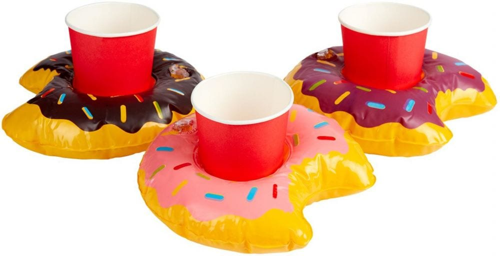 Inflatable Donut Drink Holder Ring