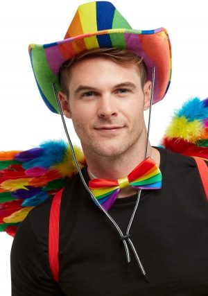 Rainbow Stetson Hat, Multi-Coloured