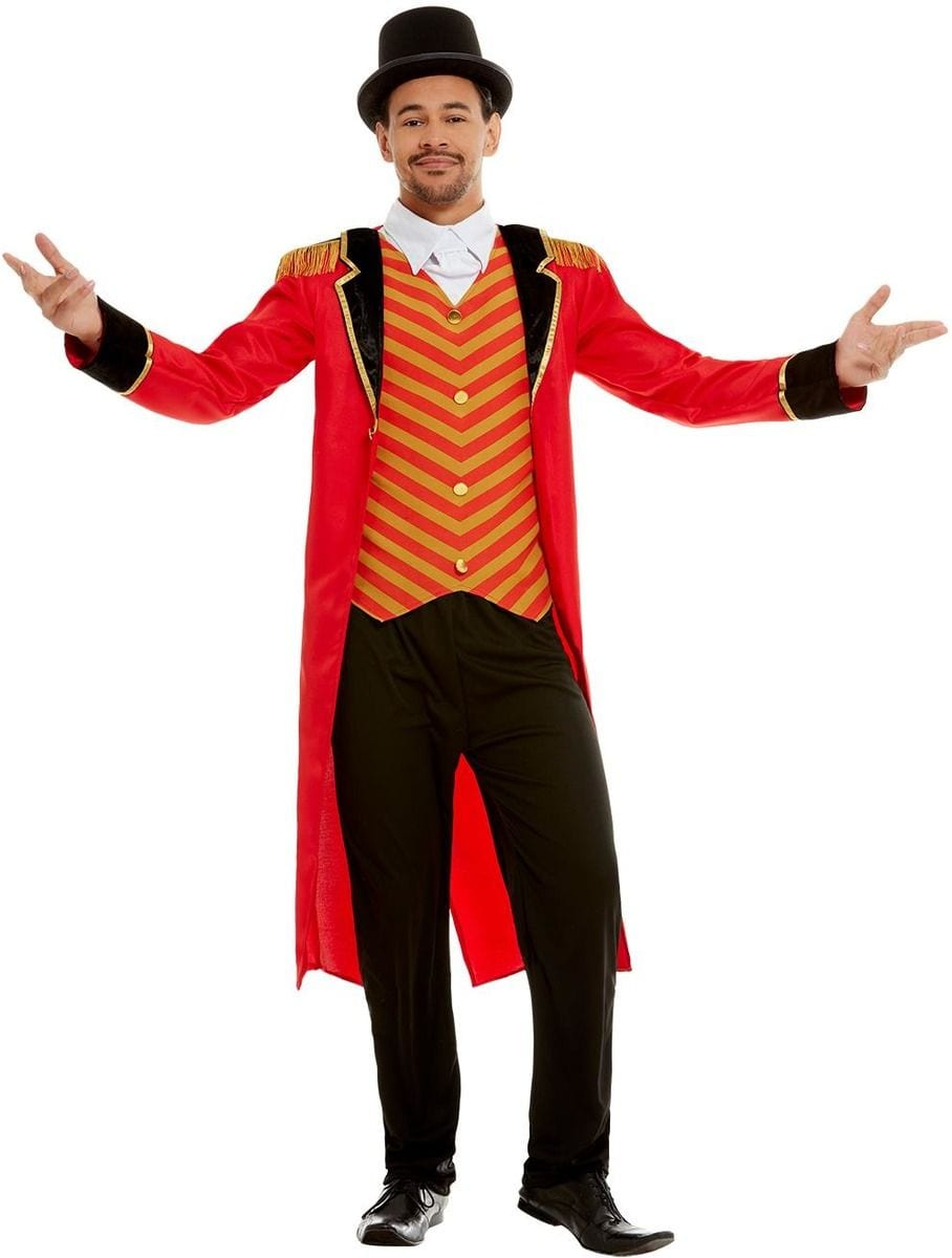 Deluxe Ringmaster Men's Fancy Dress Costume