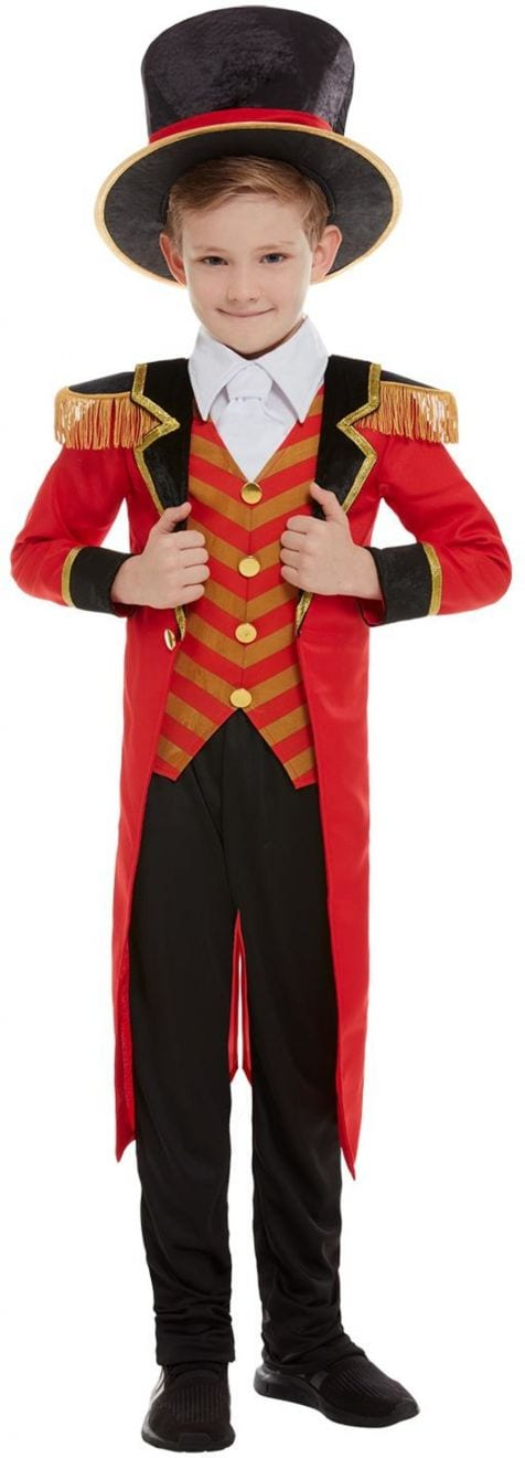 Deluxe Ringmaster Boy Children's Fancy Dress Costume