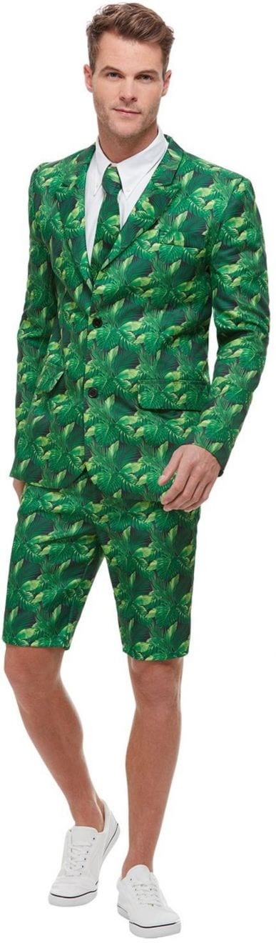 Tropical Palm Tree Short Standout Suit Men's Fancy Dress Costume