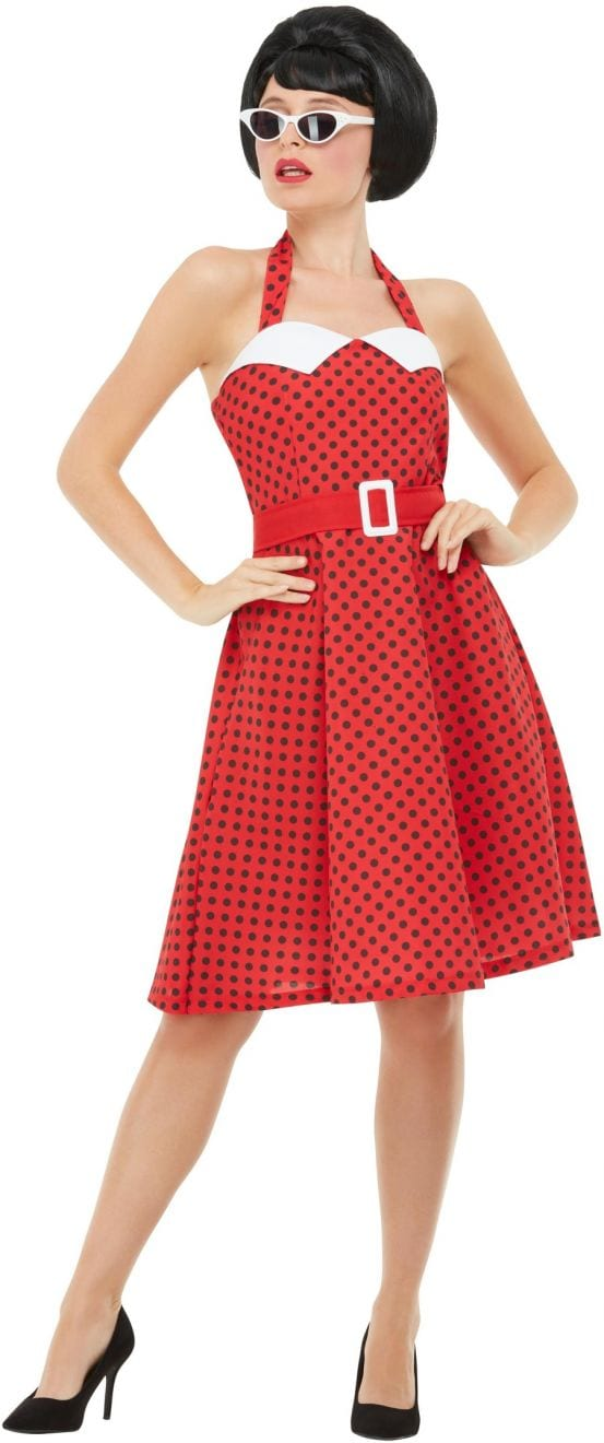 50s Rockabilly Pin Up Ladies Fancy Dress Costume