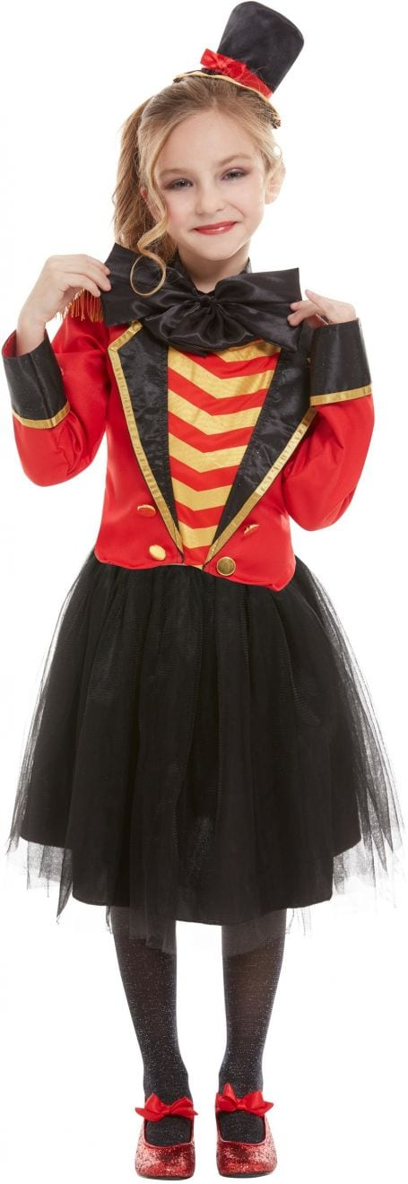 Deluxe Ringmaster Girl Children's Fancy Dress Costume